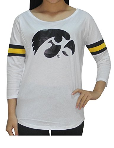 NCAA IOWA HAWKEYES Womens Athletic 3/4 Sleeve T-Shirt
