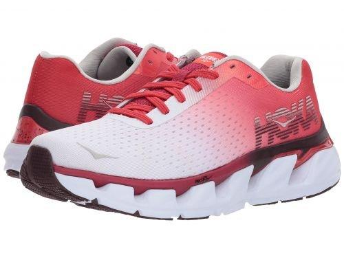 Hoka One One(ホカオネオネ) メンズ 男性用 シューズ 靴 スニーカー 運動靴 Elevon - White/Cherries Jubilee [並行輸入品] B07C8RCMN6
