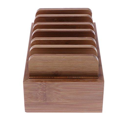 Homyl Bamboo Mobile Phone Holder Mount Station Wooden Desktop Tablet Dock Cradle by Homyl