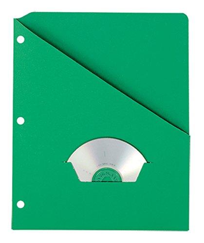 Pendaflex 32925 Essentials Slash Pocket Project Folders, 3 Holes, Letter, Green (Pack of 25)