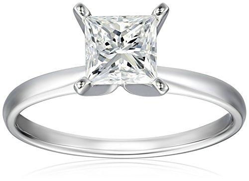 IGI Certified Platinum Princess-Cut Diamond Engagement Ring (1.5 carat, H-I Color, SI1-SI2 Clarity), Size 7