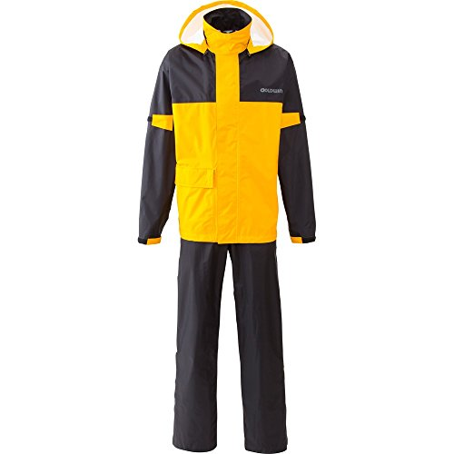 GOLDWIN bike for compact rain suit separate G vector 2 [black × Sunbeam] O size (LL size equivalent) GSM12512 by Goldwin