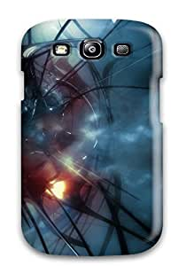 Galaxy S3 Blue Print High Quality Tpu Gel Frame Case Cover