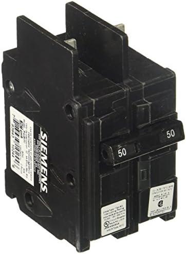 Siemens BQ2B050 50-Amp Double Pole 120 240-Volt 10KAIC Lug Out Breaker, COLOR