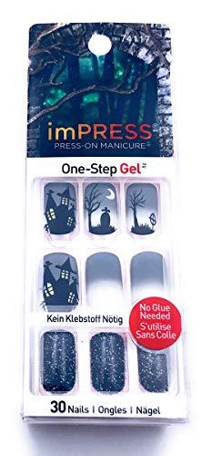 Impress Halloween Nails # 74117 Shining Gel Press On Nails, 1 Pack]()