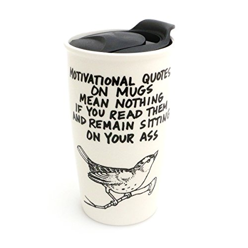 Mature Bird Travel Mug - Quote International Usps Shipping