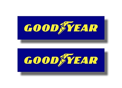 "2 GOODYEAR 9"" Vinyl Sticker Decals Tires Sign Good Year 17 20 Blimp Decal Stickers"