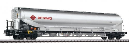 Powder Wagon - Busch L235871 Powder Silo Wagon 'Ermewa' DB, Ep.VI HO Scale Model Train