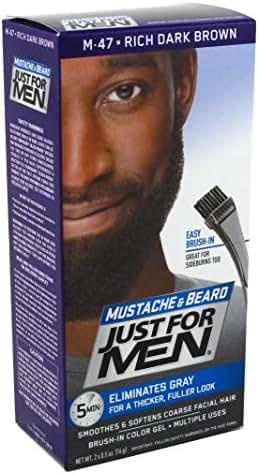 Just For Men Mustache & Beard #M-47 Rich Dark Brown (3 Pack)