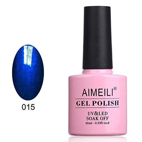 (AIMEILI Soak Off UV LED Gel Nail Polish - Midnight Swim (015))