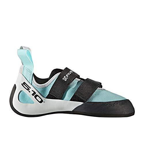 Five Ten Gambit VCS Womens Climbing Shoes, (Clear Aqua, Clear Grey, Black), Size 9