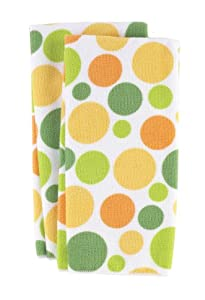 Ritz Royale Collection Microfiber Polka Dot Print Towel Set, 2-Piece