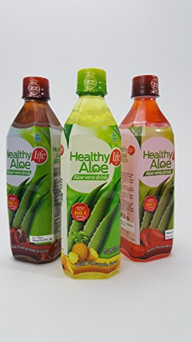 16.9 fl oz Flavored Aloe Vera Drink – Assorted Flavors (12)