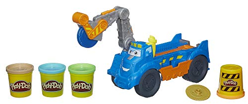 Play-Doh Buzzsaw Logging Truck Toy with 4 Non-Toxic Colors, 3-Ounce -