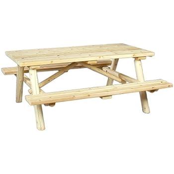 Nice Cedarlooks 0200021 Log Picnic Table