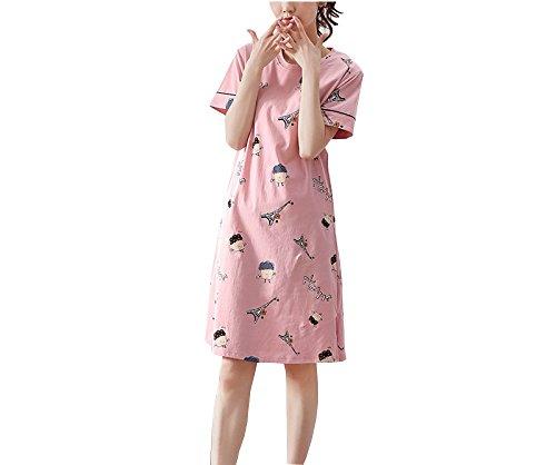 estate signore pigiama servizio a da confortevole a Pink domicilio cotone corte camicia GSHGA Nuovo notte maniche tBHgwqtfx
