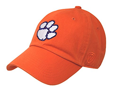 (Top of the World NCAA Clemson Tigers Men's Adjustable Hat Relaxed Fit Team Icon,)