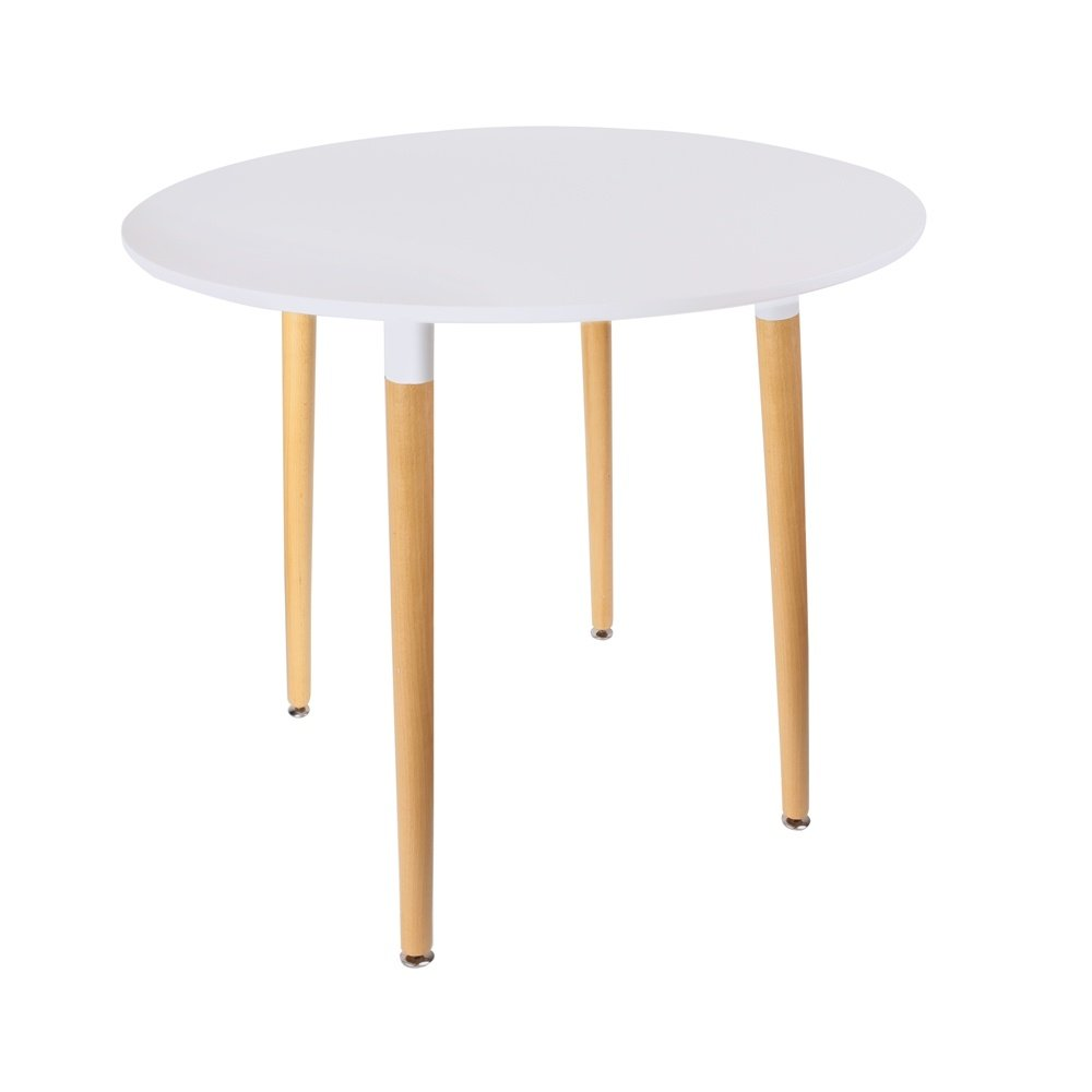 Table blanche ronde