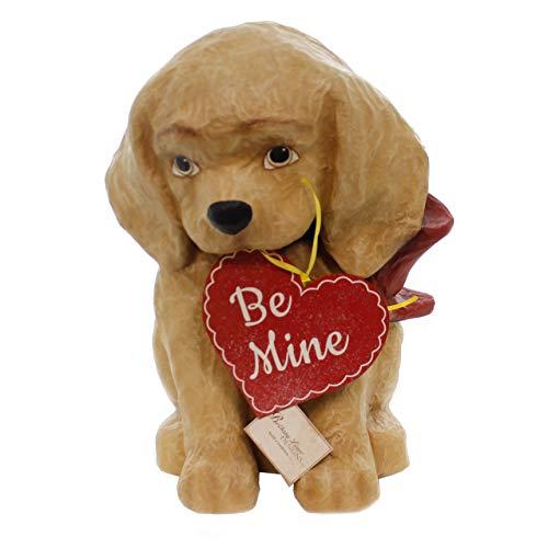 Valentine's Day BE Mine Puppy Paper Mache Valentine Love Heart Td8491 by Valentine's Day (Image #2)