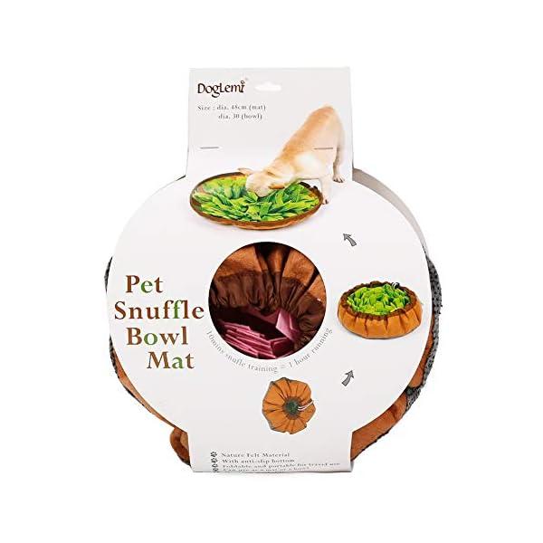 RC GearPro Dog Snuffle Bowl Mat Pet Cat Snuffling Nose Work Mat IQ Training Slow Eat Bowl, Encourages Natural Foraging Skills Dog Feeding Blanket (green) 3