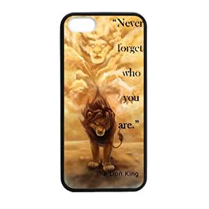 Lion King Cell Phone Protector for iPhone 5S Plastic and TPU (Laser Technology)