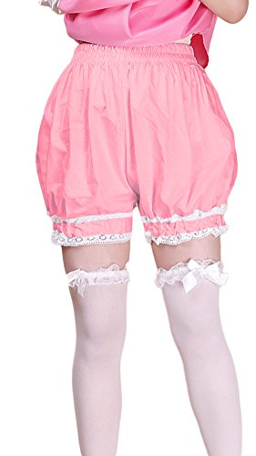 (AvaCostume Women's Cotton Lolita Maid Shorts Bloomers, Pink, One size)