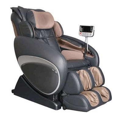 Osaki OS4000C Model OS-4000 Zero Gravity Executive Fully Body Massage Chair, Charcoal, Computer Body Scan System, True Ergonomic S-Track, Upgraded PU covering for Increase Durability and Comfort