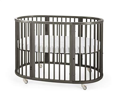 Stokke Sleepi Hazy Grey Adjustable Baby Crib Easily Converts To Toddler Bed