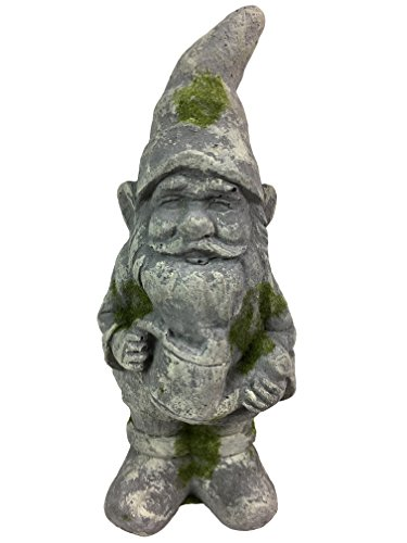 Antique looking Concrete Garden Gnome with Watering ()