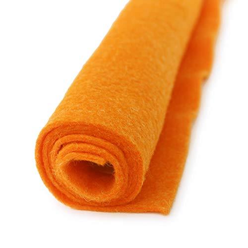 Mac'n Cheese Orange - Wool Felt Oversized Sheet - 20% Wool Blend - 36 in x 36 in Sheet