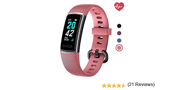 Delvfire Arcturus Fitness Tracker con monitor de ritmo cardíaco ...