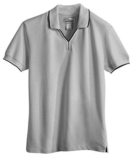 Tri Mountain Womens 60 40 Ultracool Mesh Johnny Collar Golf Shirt  112   Heather Gray   Black   White M
