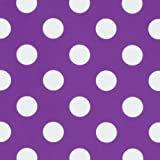 Fire 7 2015 Case, Amazon Fire 7 Case, rooCASE Dual View Leather PU Folio Slim Fit Lightweight Folding Cover with Stand for 5th Gen 2015, Dot Purple