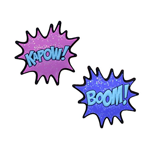 (Racket Expressions Girls Glitter Kapow and Boom Comic Book Themed Tennis Dampeners)