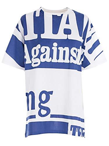 Margiela S51gc0419s22816981 Maison bleu T Blanc Femme Coton shirt 35Aj4RLq
