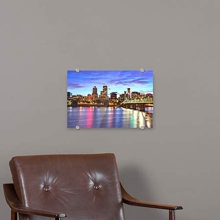 CGSignLab 36x24 Circle CapturePortland OR Skyline at Sunset Premium Acrylic Sign