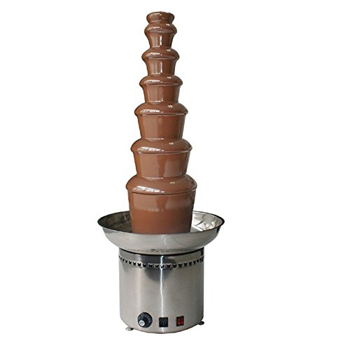 Electop 7 Tiers Chocolate Fountain Commercial Luxury Stainless Steel 43x103cm for Wedding Party Hotel by Electop