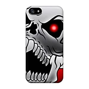 Top Quality Rugged Red Eyes Skull Case Cover For Iphone 5/5s