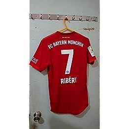 Ribery#7 Bayern Munich Home Maillot Soccer Jersey 2019-2020 Full Bundesliga Patch ...