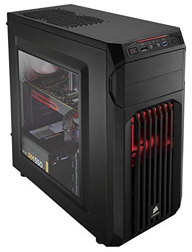 Corsair Carbide SPEC-01 Boîtier PC Gaming Moyen Tour ATX Noir avec LED Rouge