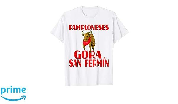 Amazon.com: Gora San Fermin And Pamplona Shirt Camisetas de Espana: Clothing