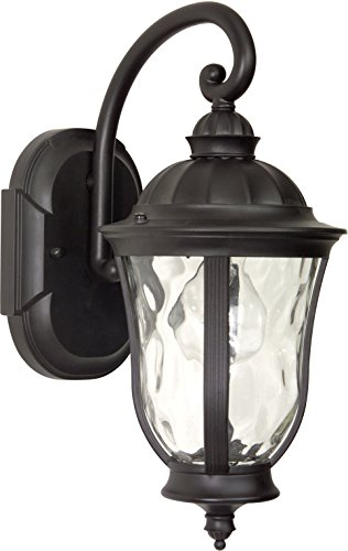 Craftmade Z6004-92 Wall Lanterns with Clear Hammered Glass Shades, Oiled