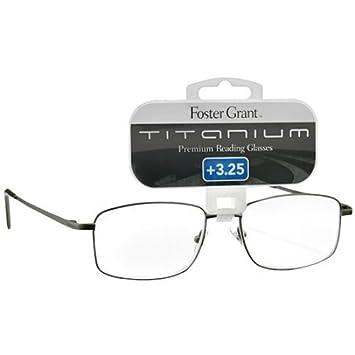5da482b53b86 Amazon.com   Foster Grant Titanium Metal Premium Reading Glasses T10 +3.25  1 Each   Beauty