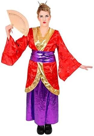 Geisha japonesa Asia China de disfraces de carnaval casi de noche ...