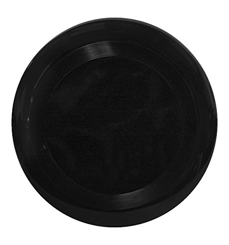 10'' Flying Frisbee Style Hard Plastic Disc - Black - Promotional Product - Your Logo Imprinted (Case Pack of 100) by RKM