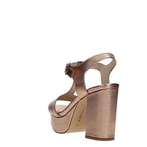 Similpelle ND908 in Sandalo Donna CafèNoir Tacco con Stampato Laminato qYw4xOPB