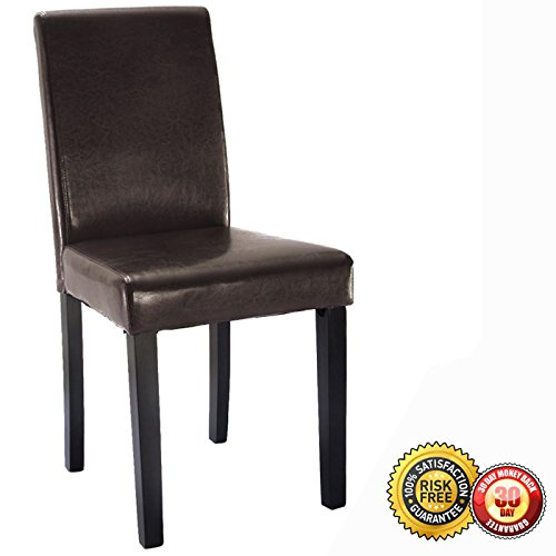 New Set of 4 Elegant Design Leather Contemporary Dining Chairs Home Room