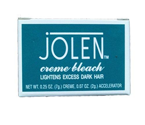 Jolen Creme Bleach 9 gm(0.31 OZ) Lightens Dark Facial Hair Cream Improves Skin Fairness