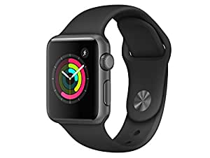 Apple Watch Series 1 38mm Grey aluminium box with Black Sport Band