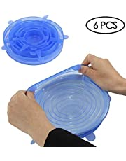 Wolecok Silicone Stretch Cover(6 Pack) for Cups, Pots, Bowls, Pans and Containers